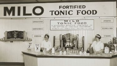 """In its first few decades, Milo was marketed as a food that  could """"sooth senses, induce sleep, and nourish the sick""""."""