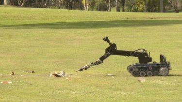 Queensland Police robot used in the search.