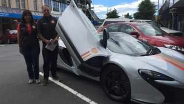Brent and Debbie Forman of Auckland with their McLaren 650S Spider.