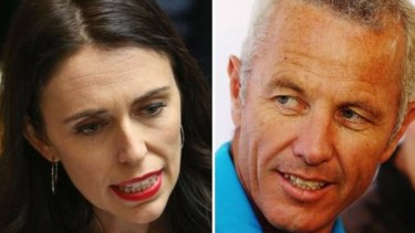 Jacinda Ardern, left, clashed with radio host Mark Richardson, right, during the interview.