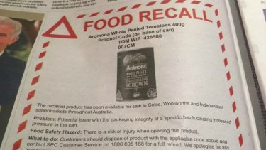 There were 123 food and grocery recalls in 2015-16.