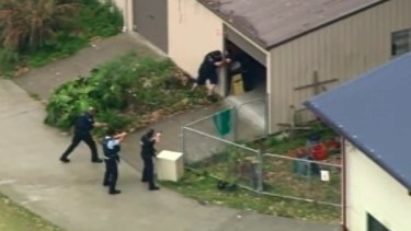 Police were searching the area for the possible gunman.