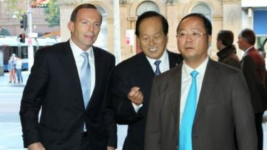 Huang Xiangmo with former prime minister Tony Abbott.