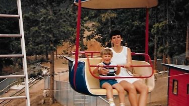Sue Klebold with son Dylan in 1985.
