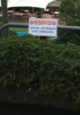 """Mrs Bishop's parking space can now be used by all """"patrons, life members and past commodores""""."""