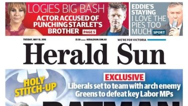 Job cuts are expected at News Corp's tabloid division, including Melbourne's Herald Sun.