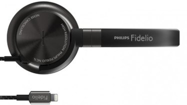 There are already headsets that connect to iPhone via the Lightning port, like these Philips Fidelios. The port allows headphones to get power from and be controlled by the phone, and currently enables up to 48khz lossless audio.