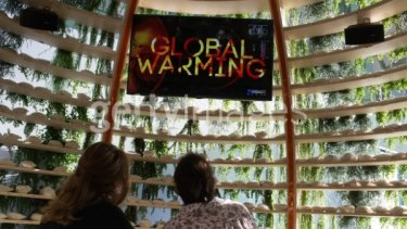 The <I>Immersive</i> exhibition featured at the climate change conference.