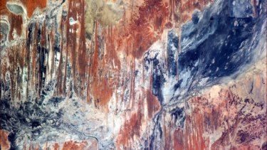 Jackson Pollock would've been further inspired seeing the Outback from orbit