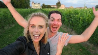 Sylvia Jeffreys and Peter Stefanovic announced their engagement on Instagram.