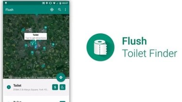 Flush Toilet Finder app prevents those awkward moments on the road.