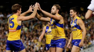 West Coast stars in the anniversary jumper for its round four win over Richmond.