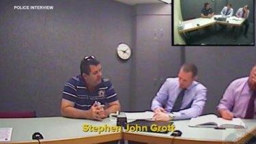 Police interview Stephen John Grott.