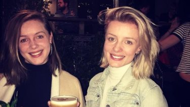 Jess Mudie, right, with twin sister Emily, was killed when a car ploughed through Bourke Street Mall in Melbourne on Friday.
