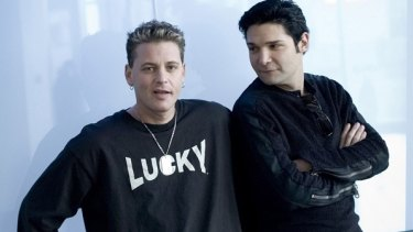 Feldman and friend Corey Haim (left), who died in 2010 following years of drug abuse, previously spoke about being sexually abused by Hollywood identities when they were child stars.