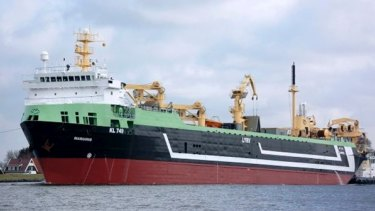 The Dutch-owned supertrawler Margiris.