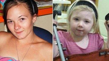 Karlie Pearce-Stevenson and her daughter Khandalyce.