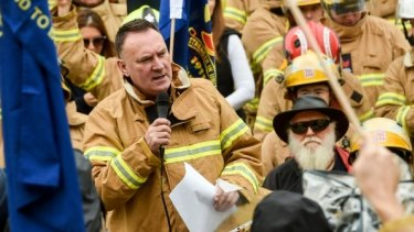 """United Firefighters Union secretary Peter Marshall:  """"It is blatantly clear this whole process has been botched."""""""
