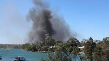 The Noosa fire was kept under control, however three properties were destroyed.