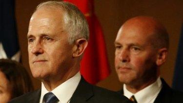 Liberal senator Stephen Parry, pictured alongside Prime Minister Malcolm Turnbull.