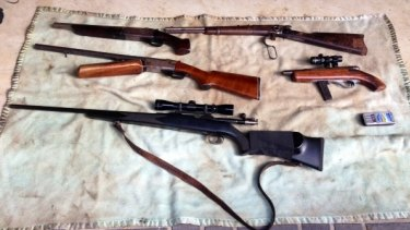 Police seized 3057 guns across the state last year.