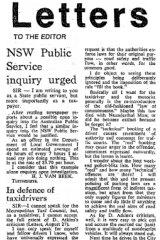 Harris Van Beek's letter to The Sydney Morning Herald.