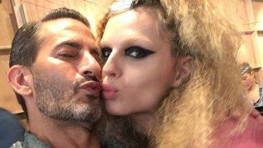 Jun 12, Sun Herald, The Goss, Jenna Clarke, What's Hot: Marc Jacobs and Andreja Pejic. Pic credit: Instagram