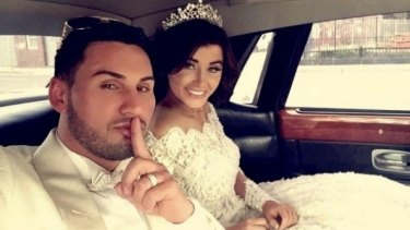 Salim Mehajer during his lavish wedding, which caused a storm of protest.