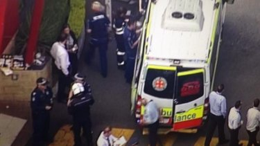 Aerial shots of a Gold Coast restaurant where two people have been shot.