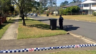 A woman was allegedly chased by a  man armed with a machete after he rammed her car in Wacol.