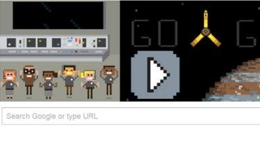 The Google doodle as Juno entered the orbit of Jupiter.