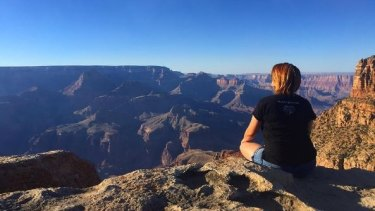 Colleen Burns, 35, posted this photo on Instagram a short time before she fell to her death at the Grand Canyon.