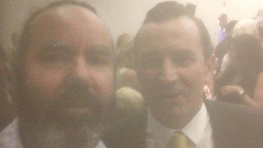 WAtoday reporter Brendan Foster with new premier Mark McGowan
