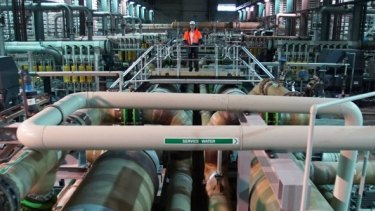Inside the Wonthaggi desalination plant, which will soon produce its first water order for Melbourne.