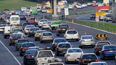 Traffic jammed after trucks crash on the Monash Freeway.