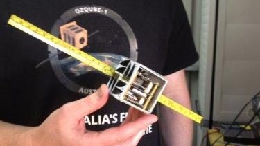 An Australian nano satellite, ready for launch.
