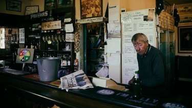 John 'Johnny' Bantock inside his Thorpdale pub.