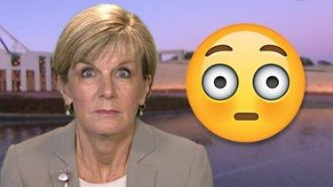 Australian Foreign Minister Julie Bishop is a big fan of emojis.