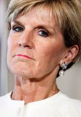 Julie Bishop told colleagues she wouldn't challenge for the leadership.