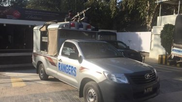 There was tight security before the final of the Pakistan Super League in Lahore last weekend.