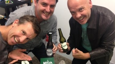 Steve Sammartino, Sean Callanan and Jim Stewart combine beer, business and podcasting.