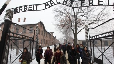 The Auschwitz Birkenau Nazi concentration camp in Poland. The Holocaust claimed the lives of 6 million Jews.