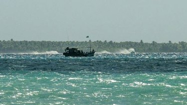 This boat filled with Sri Lankan asylum seekers arrived at the Cocos Islands in July 2012.