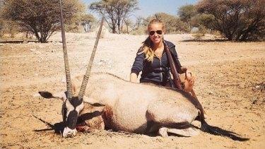 Ms Despiegelaere hunting in Africa.