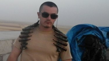 Mr Dyball photographed in Syria.