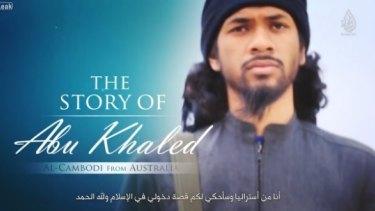 Neil Prakash, as he appeared in an Islamic State's propaganda video.