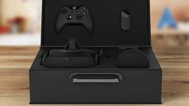 What's in the box: a Rift, the USB sensor, an Xbox One controller and an Oculus Remote.