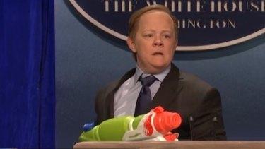 Melissa McCarthy as Sean Spicer on Saturday Night Live.
