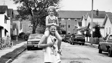 A father and daughter in an East Dayton neighbourhood ravaged by the drug epidemic.