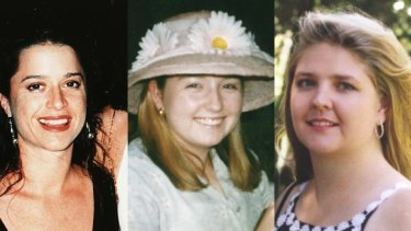Claremont murder victims Ciara Glennon (left) and Jane Rimmer (right). Investigations into the disappearance of Sarah Spiers (centre) are ongoing.